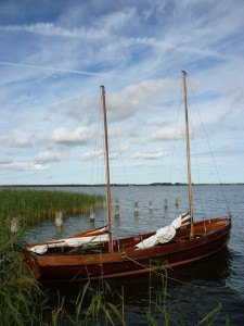 Segelboot am Bodden